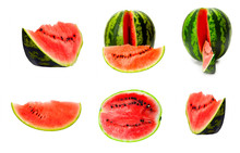 Watermelon Slices And Seeds