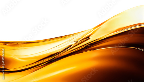 Fond de hotte en verre imprimé Abstract wave big wave of oil