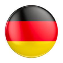 Germany Flag Icon - Round Badge Or Button. 3d Rendering