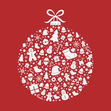 Beautiful Christmas Ball On Re...