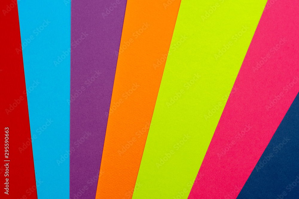 Fototapety, obrazy: Colorful bright stripes of colored paper lines. Art.
