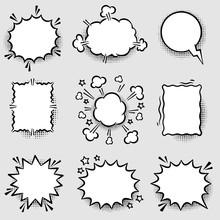 Set Of Angry Comic Speech Bubbles