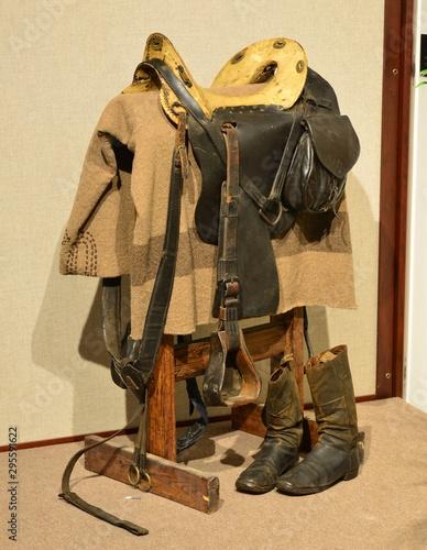 Fotografie, Obraz American Cavalry saddle from the American Civil war