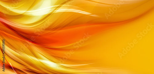 Tuinposter Abstract wave abstract orange background