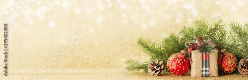 Christmas gift box and decor - 295602480