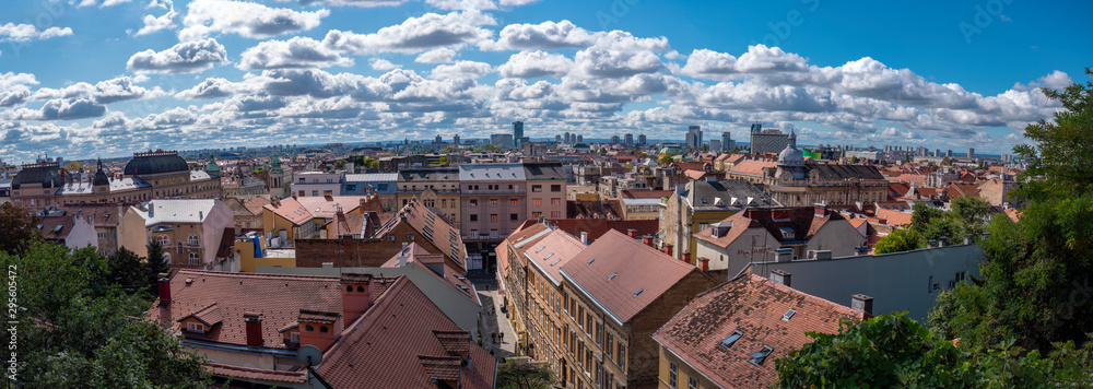 Fototapety, obrazy: View over the old town area of Zagreb in Croatia