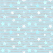 Seamless pale blue pattern with foil stripes and stars