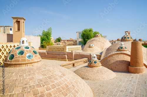 Amazing roof of Sultan Amir Ahmad Bathhouse in Kashan, Iran Wallpaper Mural