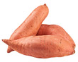 sweet potato, yam, isolated on white background, clipping path, full depth of field