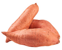 Sweet Potato, Yam, Isolated On...
