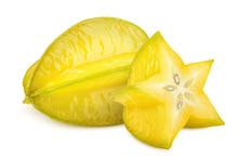 Carambola, Starfruit, Isolated...