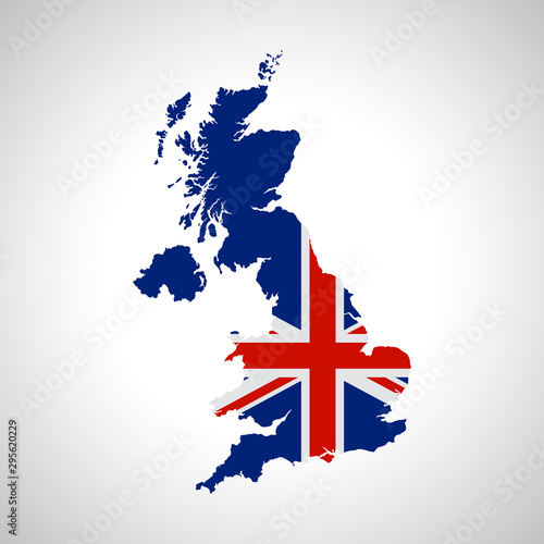 Photo map of united kingdom