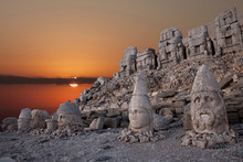 Nemrut Mountain Ancient City In South East Turkey