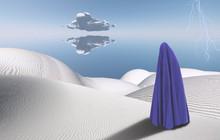 Surreal Desert. Figure Of Man ...