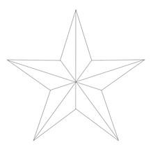 White Texan Star