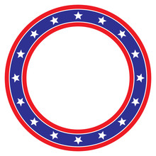 Star Circle Red White And Blue Background