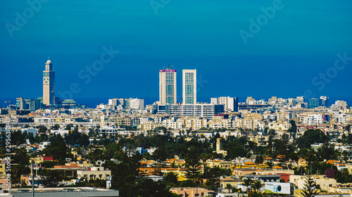 aerial view of Casablanca city Fotobehang