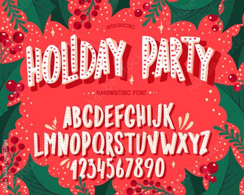 Christmas font Canvas Print