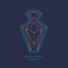Bottle Of Perfume. Linear Imag...