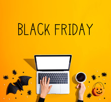 Black Friday Banner With Lapto...