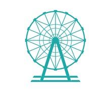 Ferris Wheel Vector Icon. Ferr...