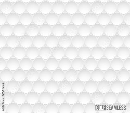 Fotografie, Obraz Golf ball vector seamless pattern