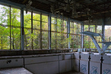Abandoned Swimming Pool In The...