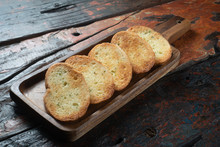 Toasted Baguette Slices Isolat...