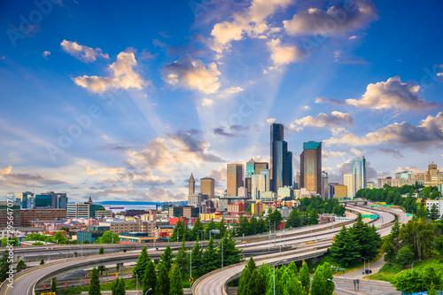 Seattle, Washington, USA downtown city skyline Fotobehang