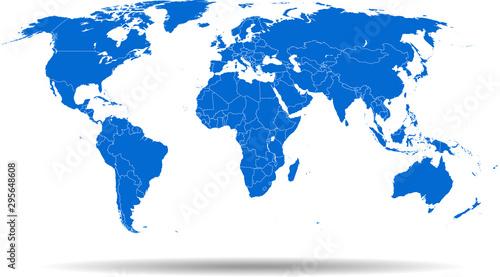 Cuadros en Lienzo map of world