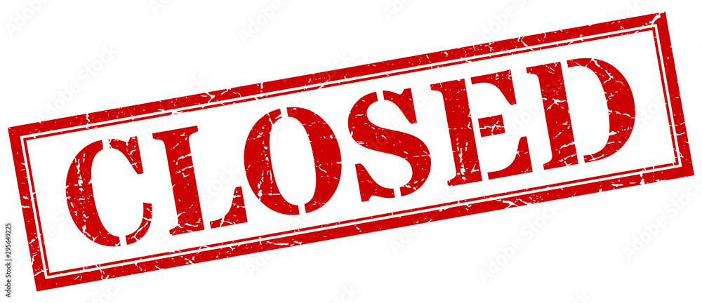 Fototapeta closed stamp. closed square grunge sign. closed