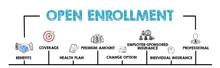 Open Enrollment Concept. Chart...