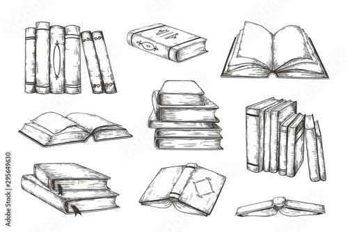 Valokuva Hand drawn books