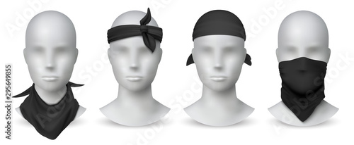 Obraz na płótnie Realistic black bandana