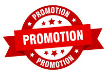 Promotion Ribbon. Promotion Round Red Sign. Promotion