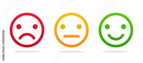 Emoticon face Fotobehang