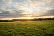 Ciel nuageux lever de soleil nature