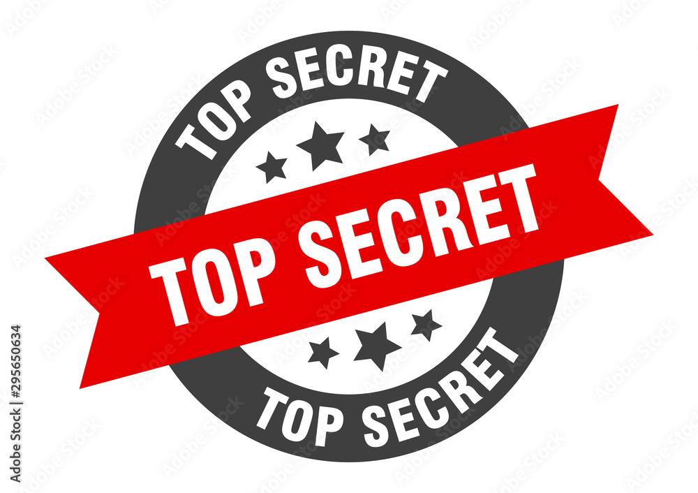 Fototapety, obrazy: top secret sign. top secret black-red round ribbon sticker