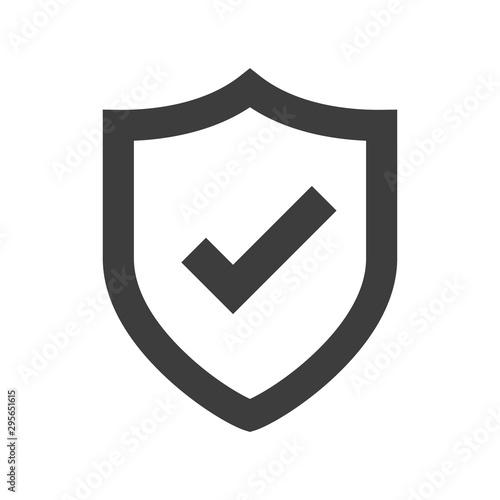 Shield icon Canvas Print