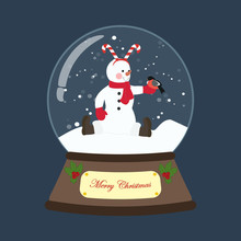 Snowman In Christmas Costume I...