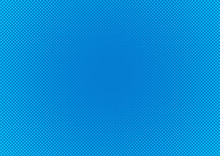 Abstack Background Cartoon Style Halftone Blue Gradient.