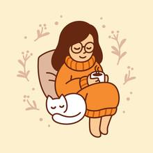 Cozy Autumn Girl