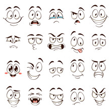 Cartoon Faces. Caricature Comi...