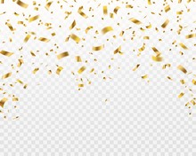 Golden Confetti. Falling Gold ...