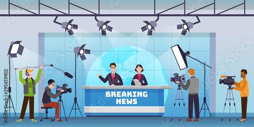 Live news Wallpaper Mural
