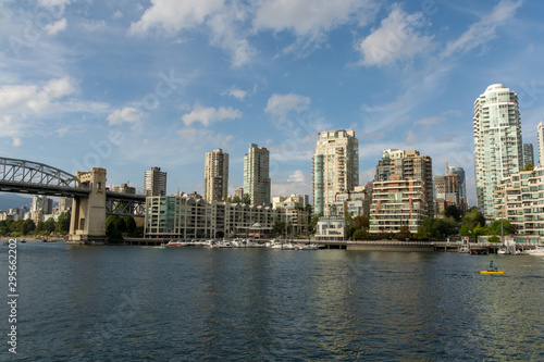View of downtown Vancouver from Granville Island, Canada