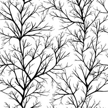 Seamless Pattern With Tree Branches
