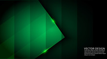 Dark Green Color Abstract Geom...