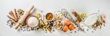 Ingredients for autumn winter festive baking