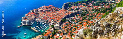 beautiful Dubrovnik - medieval city fortress in Croatia. Popular tourist and cruise destination